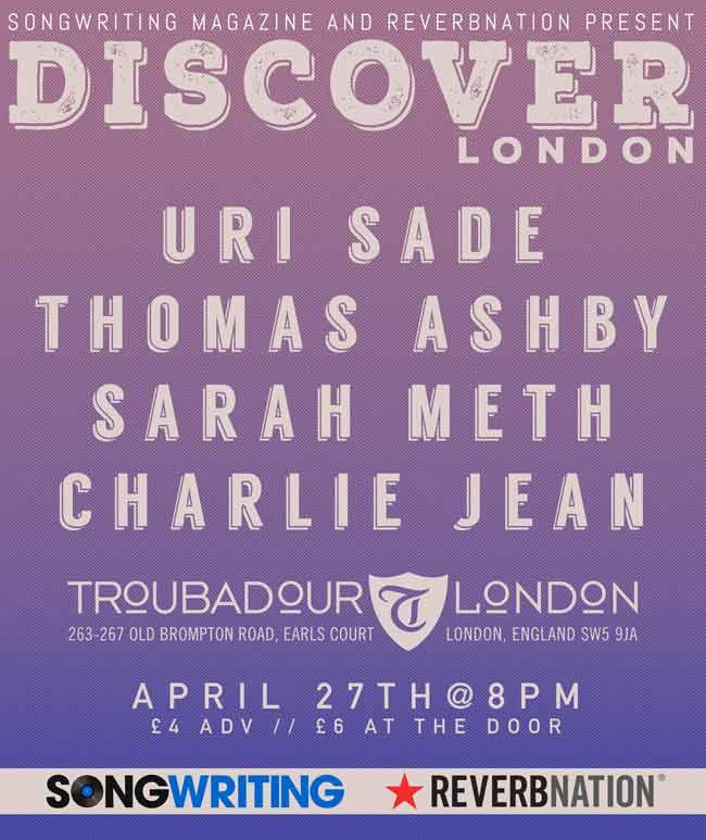 ReverbNation Discover London flyer