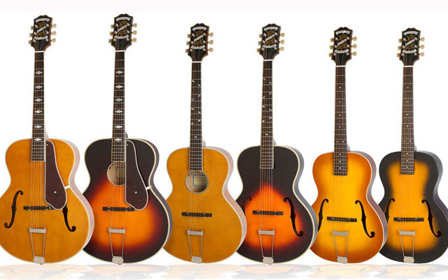 epiphone produces masterbilt century collection songwriting magazine. Black Bedroom Furniture Sets. Home Design Ideas