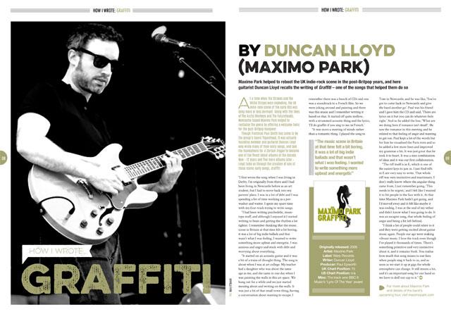 How I wrote 'Graffiti' by Maximo Park