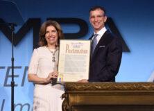 Julie Menin and David Israelite