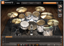 The Modern Kit in EZdrummer 2 has a crisp, contemporary sound