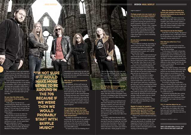Opeth in Songwriting Magazine