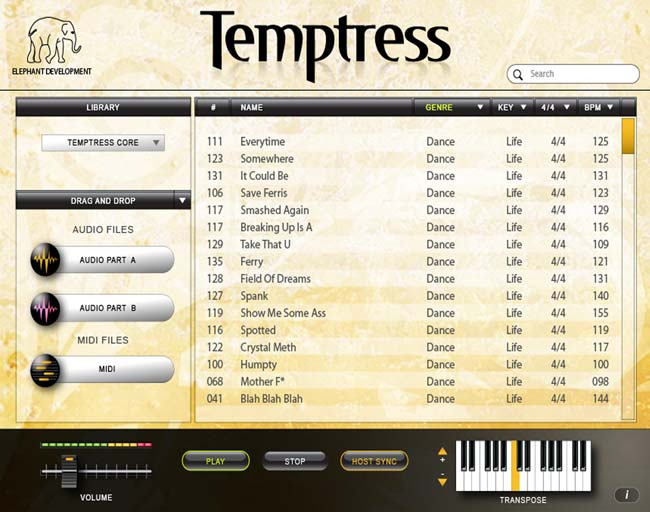 Elephant Temptress plugin screenshot