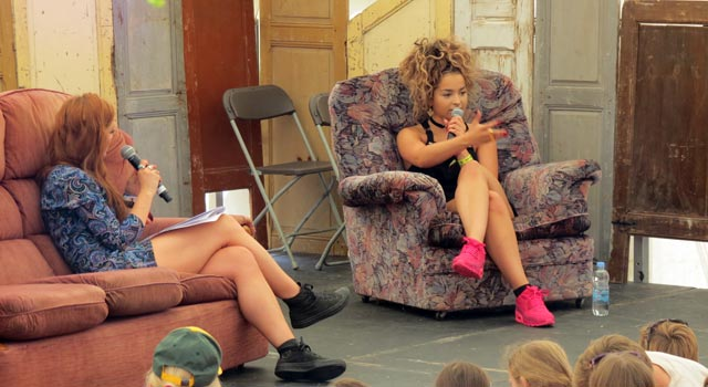 How To Be A Songwriter with Ella Eyre in the Guardian Literary Institute tent at Camp Bestival 2015