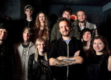 Frank Turner and ACM students in Guildford