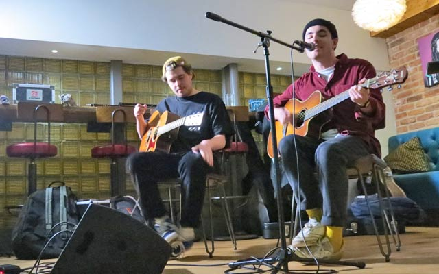 James Humphreys and Charlie at Funnel Music Songwriting Live