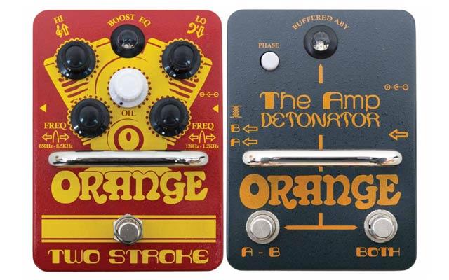 Orange Two Stroke and The Amp Detonator pedals