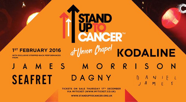 Stand Up To Cancer at Union Chapel, London